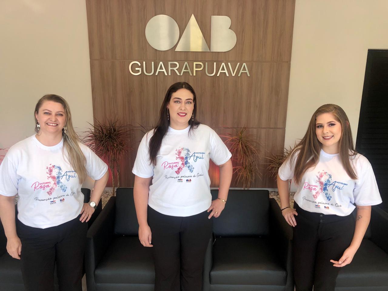 OAB Guarapuava inicia ações de conscientização do Outubro Rosa