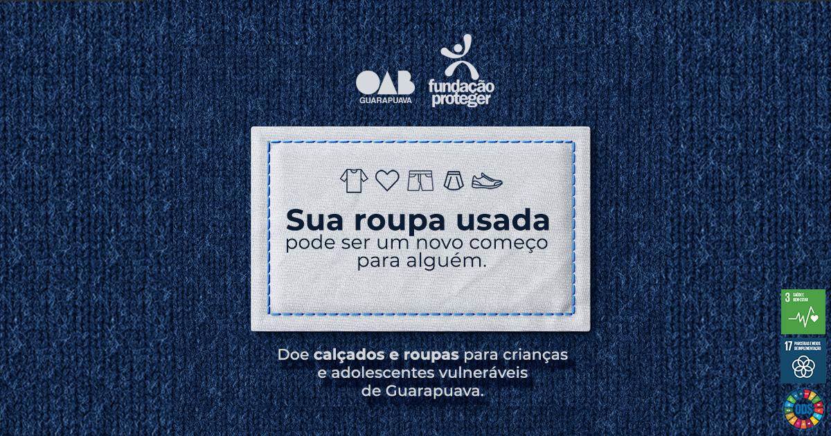 OAB Guarapuava apoia campanha de arrecadação para crianças e adolescentes