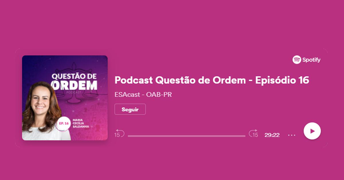 Presidente da OAB Guarapuava participa de podcast da CAI Paraná