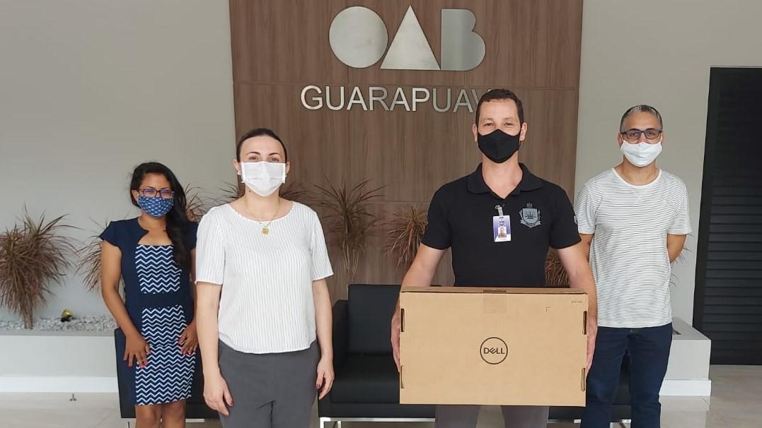 OAB Guarapuava viabiliza computador para melhoria no parlatório da PIG